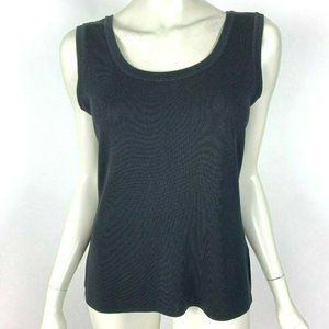 Exclusively Misook Double Scoop Neck Knit Tank Top